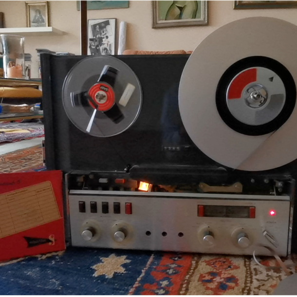 old tape recorder from peter's apartment